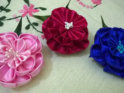D.I.Y. New Kanzashi Flower - Tutorial