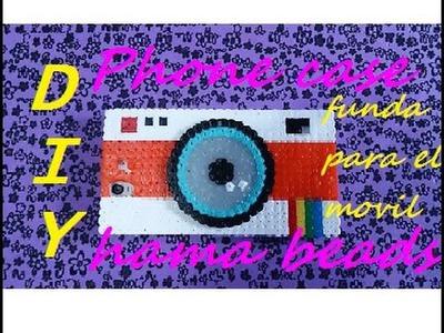 DIY - Phone Case Hama Beads Perler. Carcasa móvil pyssla camera lomo kawaii