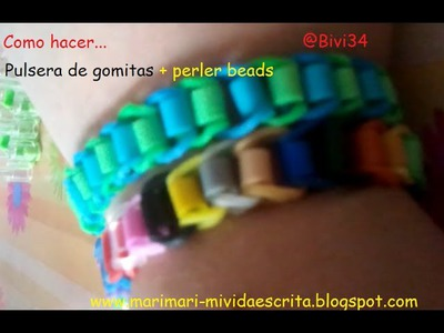 DIY Rainbow loom más perler beads ¡en español!