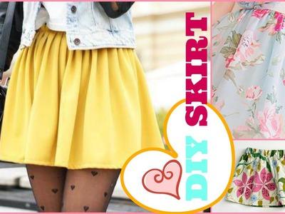 DIY Super Easy Skirt - 2 Minute Tutorial