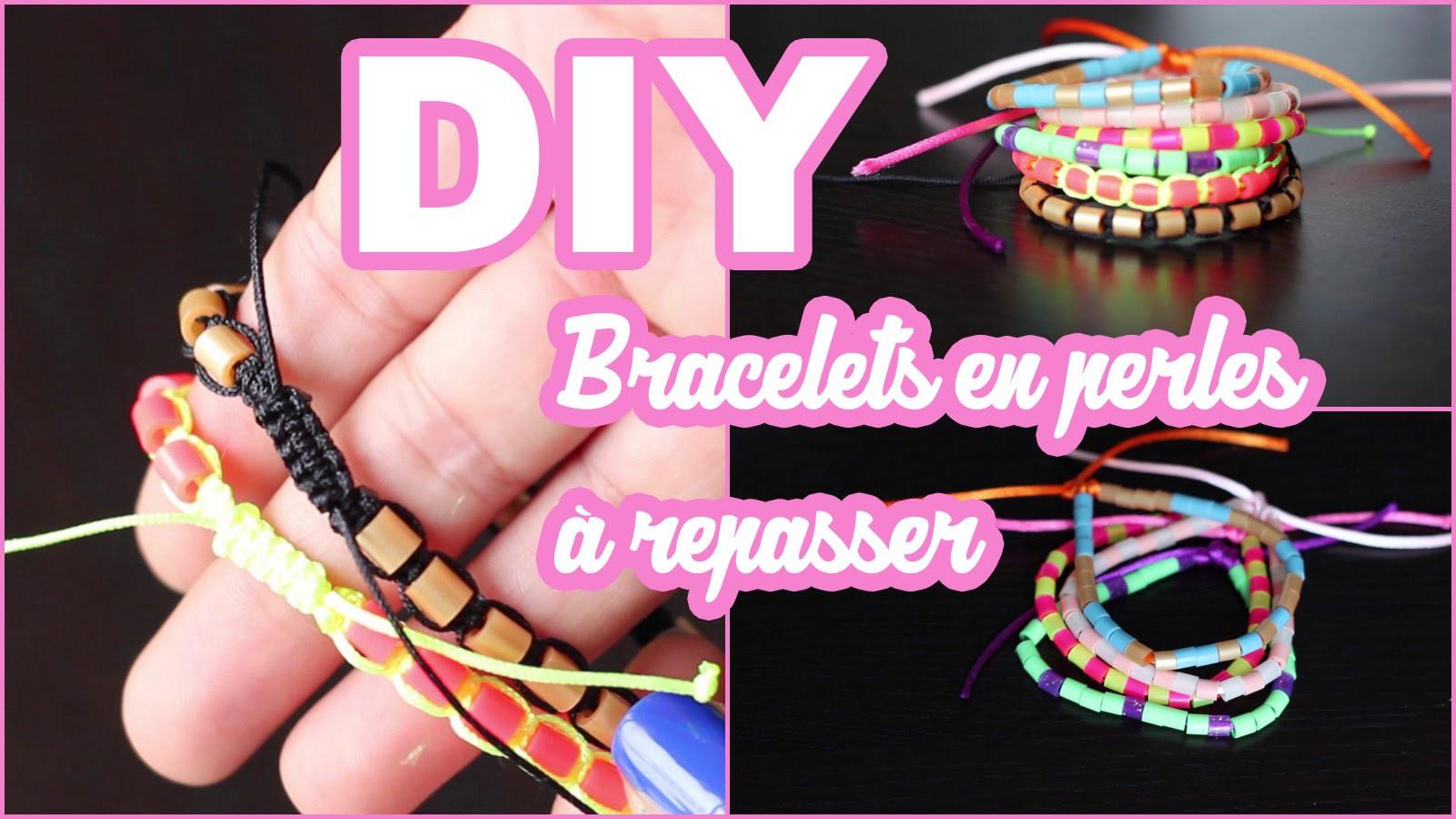 DIY # TUTO Bracelets en perles à repasser - macramé & Hama beads