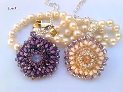 DIY TUTORIAL: ciondolo Pentalux. Pentalux pendant (Superduo.Twin beads work)