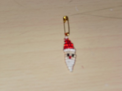 DIY Tutorial from a Santa Claus face on beads