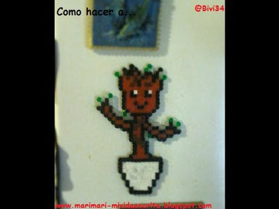 DIY Yo soy groot con hama beads mini