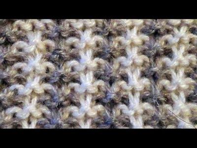 Двухцветный узор спицами. patterns for knitting