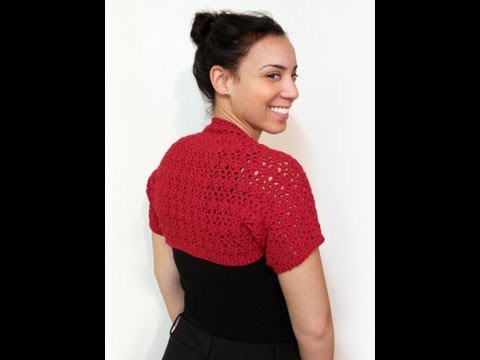 Easy Crochet Shrug - lacy springtime shrug