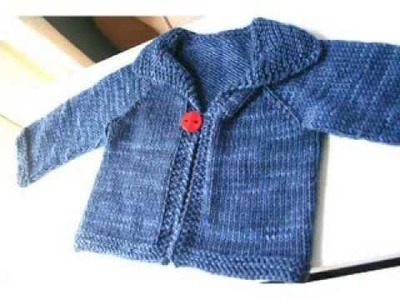 Easy Knit Baby Cardigan For Beginners
