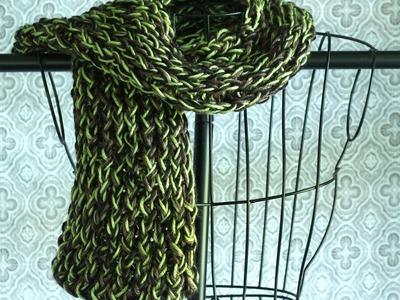 Easy Loom Knitting. Loom Knit Scarf