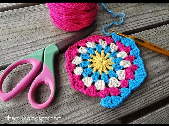 Episode 82: How to Crochet a Granny Hexagon