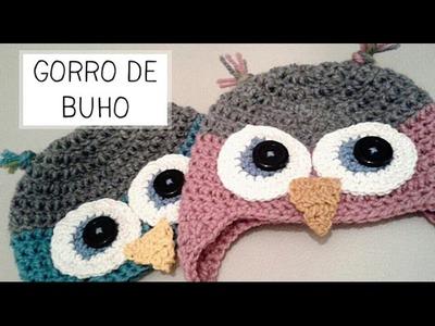 Gorro de Buho a Crochet - Tallas de 0 a 2 años - Parte 1 de 2