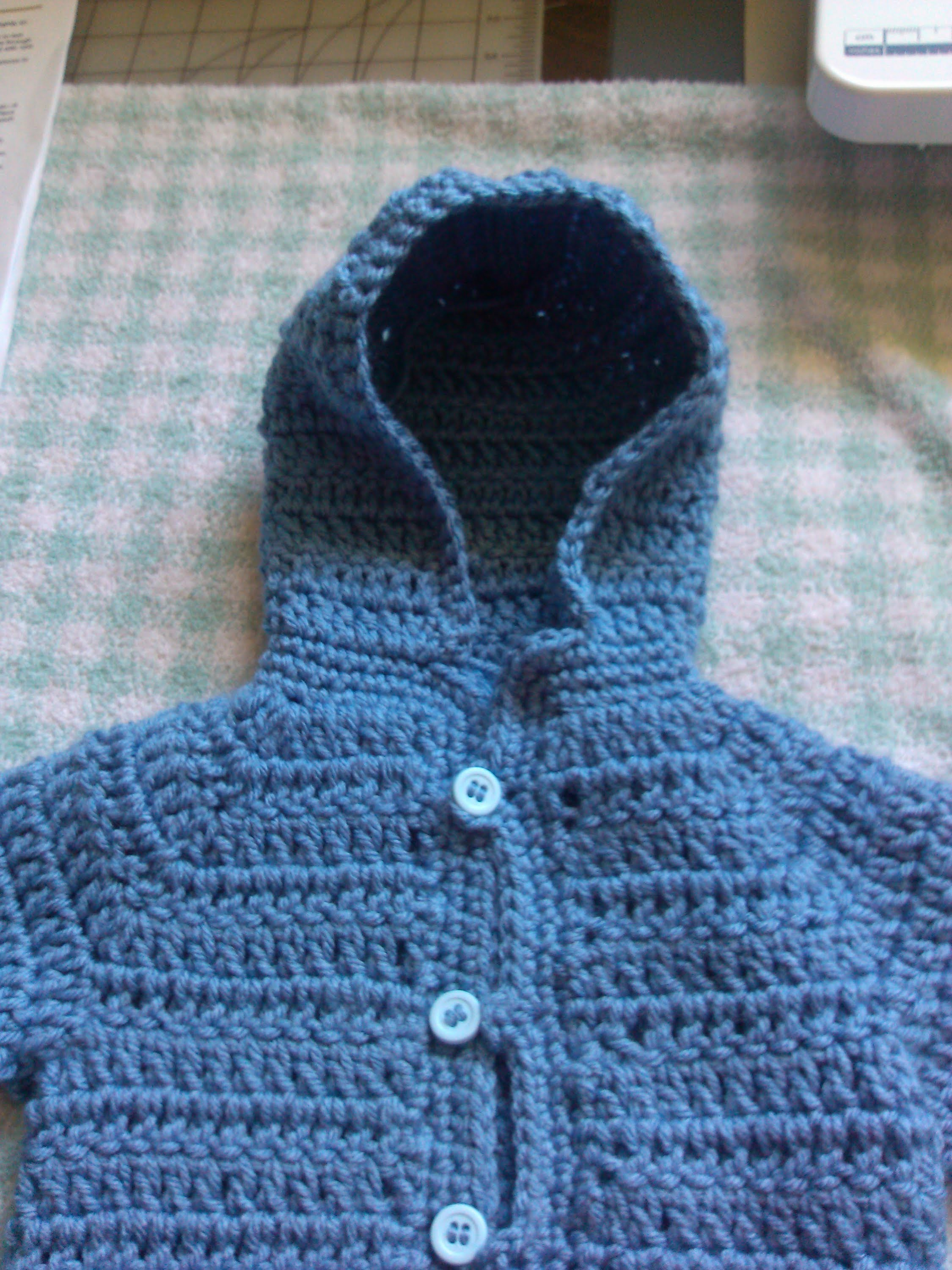 How to add a crochet hoodie or collar to your baby cardigan. baby sweater