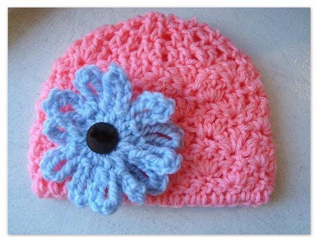 How to crochet a baby hat SHELL STITCH BABY HAT,, newborn to 3 months