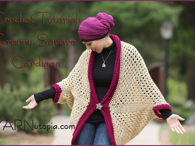 How to Crochet a Granny Square Cocoon Sweater Cardigan