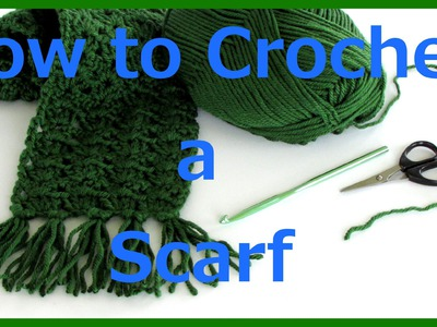 How to Crochet a Scarf step by step tutorial