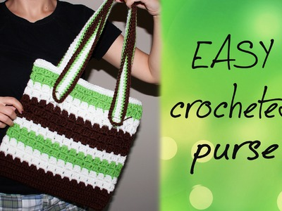 How To Crochet for Beginners #10: Easy Purse
