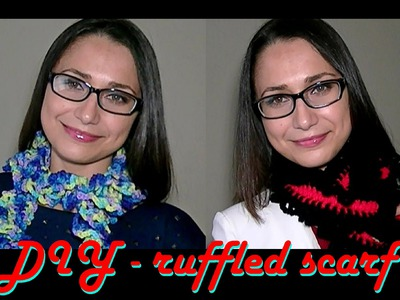 How To Crochet for Beginners #6: Easy Ruffled Scarf