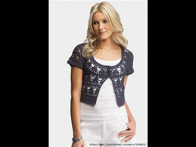 How to crochet shrug bolero free pattern for beginners