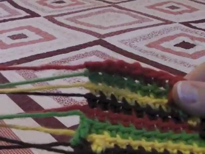 "How to Crochet the ""Groovy-ghan"" Stitch"