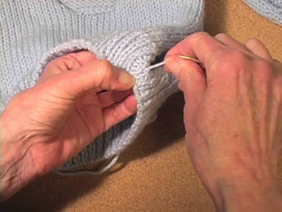 How to Knit a Sweater Part 9: Sew the Seams