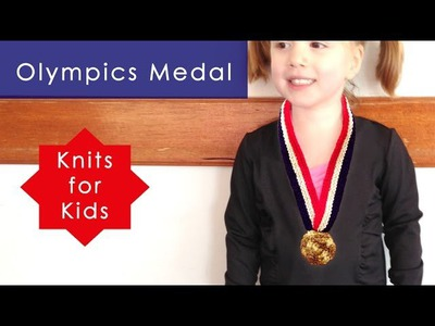 How to Knit an Olympic Gold Medal Ribbon - Halloween Costume Idea