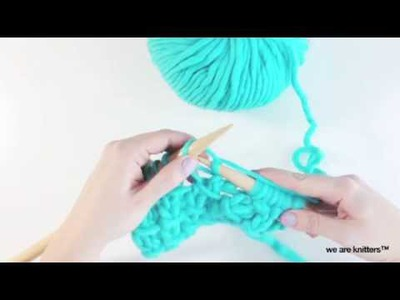 How to knit Bamboo stitch | We Are Knitters