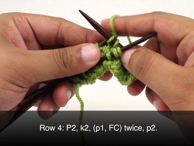 How to Knit the Loose Five Rib Braid Stitch