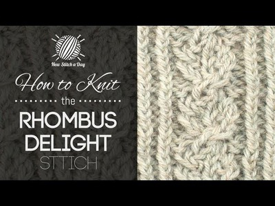 How to Knit the Rhombus Delight Cable Stitch