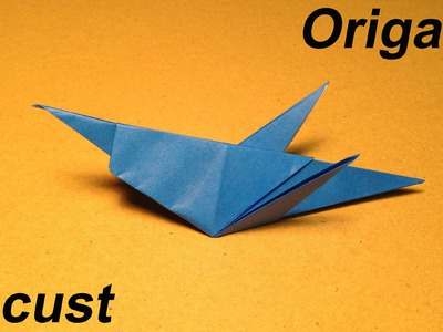 How to Make a Paper Insects. Origami Locust. Easy for Children