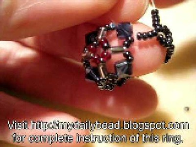 How to Make a Sapphire Crystal Bead Ring