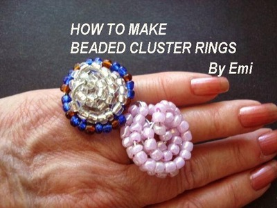 HOW TO MAKE BEADED CLUSTER RINGS, bling ring, wire ring