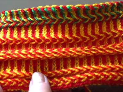Кайма жаккардом часть 2 (border knitting part 2)