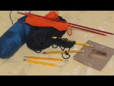 Knitting With Pencils : Knitting