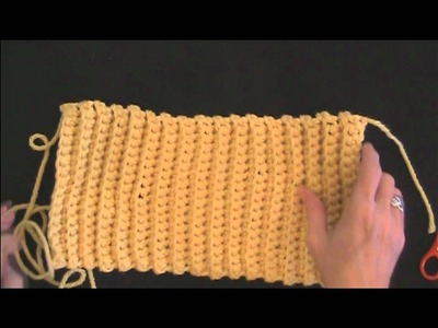 Learn How to Crochet Ribbed Hat Sewing Together - Left Handed