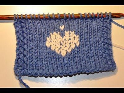 Learn How to Knit * Embroider small motifs with duplicate stitch