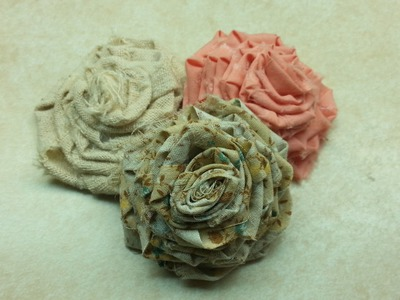Learn How To Make Roses out of Fabric #EASY Beginner project