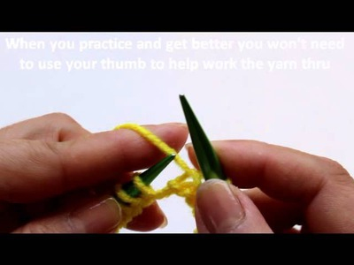 Learn to #knit -  Purl Stitch