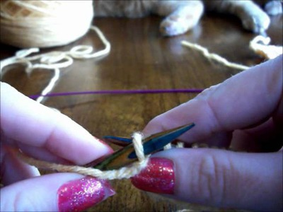Left Handed Knitting, The Basics: Knit& Purl, Garter, Stockinette, and Rib Stitches