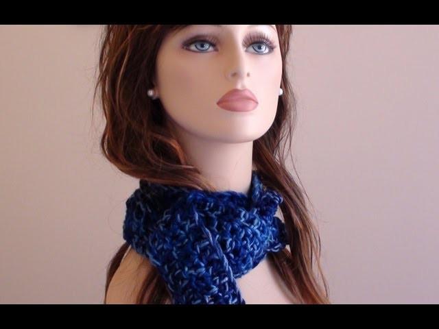 Long Chunky Crochet Scarf - Long Chunky Crochet Scarf Video Tutorial