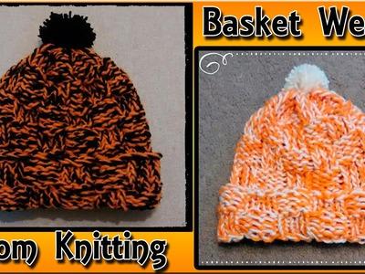 Loom Knit a Basket Weave Hat for Beginners
