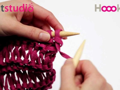 Luiewijvensteek. Drop-Stitch Knitting. Ruck-Zuck-Muster