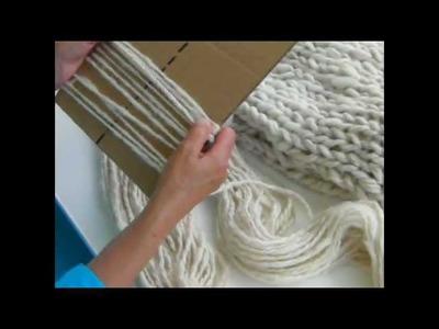 Mega Knitting - Adding a Fringe