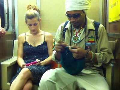 NYC Knitting Adventures in the Subway