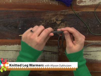 Preview Knitted Leg Warmers: Learn Mosaic Knitting with Double Pointed Needles