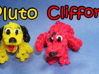 Rainbow Loom (Disney): PLUTO or CLIFFORD Dog Charm: How To Design. Tutorial (DIY Mommy