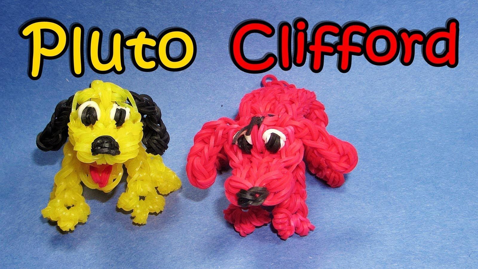 Rainbow Loom (Disney): PLUTO or CLIFFORD Dog Charm: How To Design. Tutorial (DIY Mommy