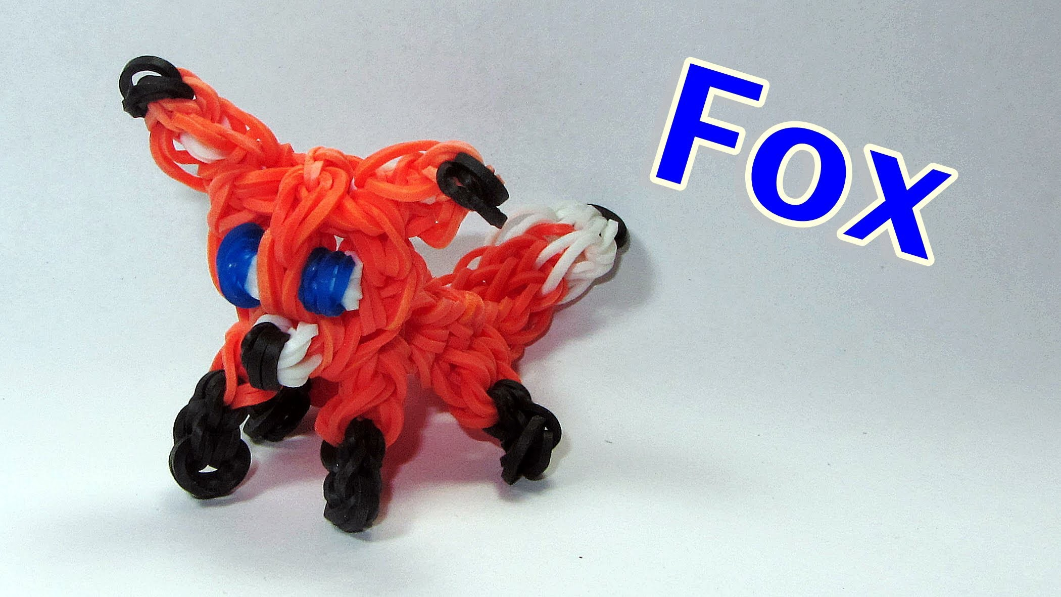 Rainbow Loom FOX Charm: How To Design. Tutorial (DIY Mommy Animals)