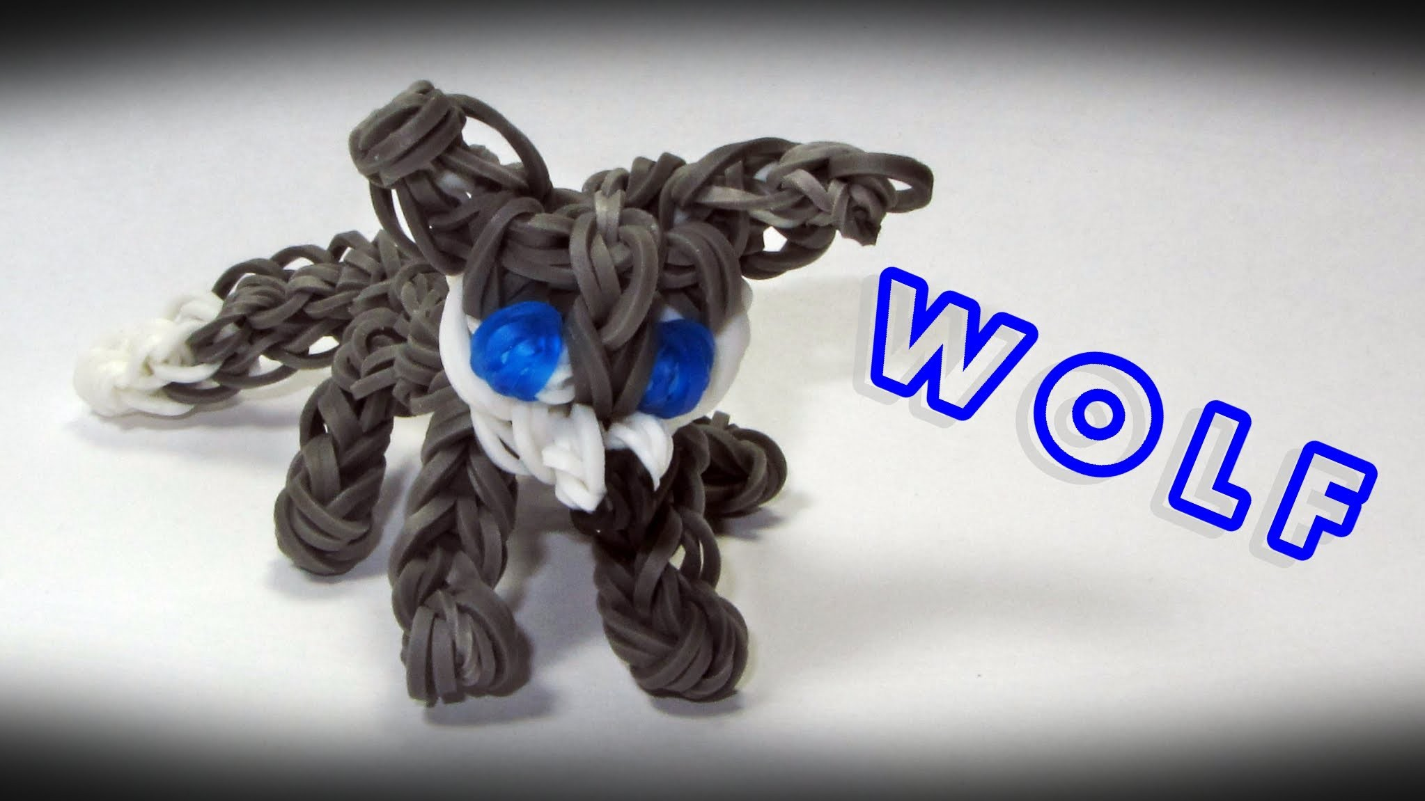 Rainbow Loom WOLF Charm: How To Design. Tutorial (Animals)
