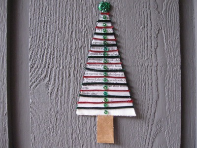 Recycled Christmas Tree Ornament Craft Tutorial