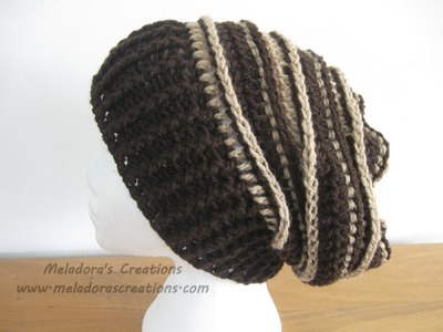 Riptide Slouch Hat - Crochet Tutorial