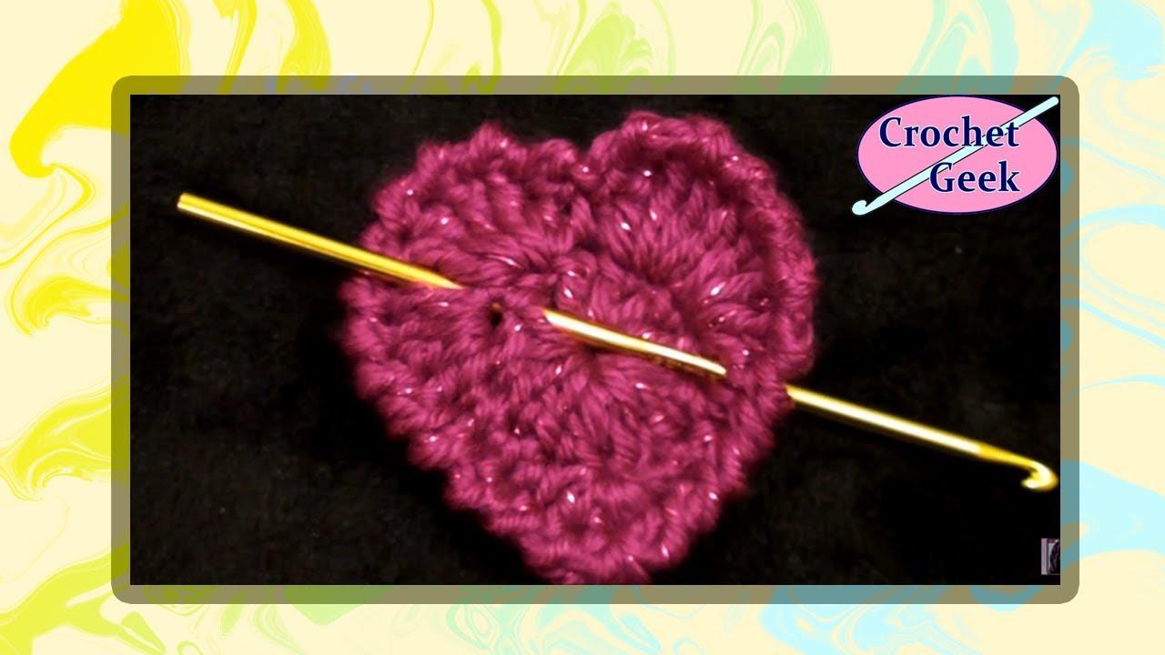 Simple Crochet Heart - Crochet Geek